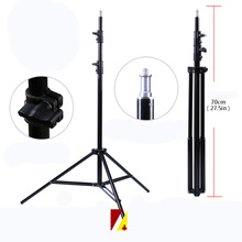 Foldable Studio Photography Light Flash Stand Support Three Flash Tripod 2M Light Stand Tripod With 1/4 Screw Head