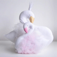 Children Doll Baby Accompany Sleep Swan Plush Stuffed Animal  Kids Toys for Girls Toddler Birthday Christmas Gift  Sweet pillow
