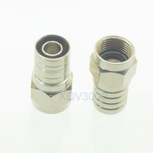 10pcs Connector F TV male plug pin crimp for RG6 cable RF COAXIAL
