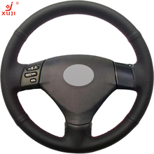 XUJI Black Leather Hand-stitched Car Steering Wheel Cover for Lexus RX330 RX400h RX400 2004 2005 Toyota Corolla Verso 2006