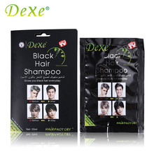 Dexe New 1PC Black Hair Shampoo Hair Colour Temporary Only 5 Minutes White Become Black Fast Hair Dye 25ml Crayons for Hair(China)