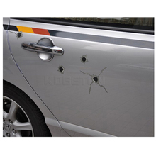 5 pcs 32 Bullet Hole Car Sticker Graphic Decal Shot hole for Car Auto Helmet Window Funny New Creative Personality Car Stickers