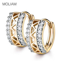 MOLIAM New Designer Small Hoop Earrings Fashion Hollow Out White Crystal Cubic Zircon Earing Brinco Jewelry MLE183(China)