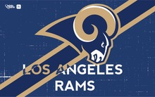 BOOTS NATION Los Angeles Rams Flag 3x5FT 100D Flag 150X90 CM(China)