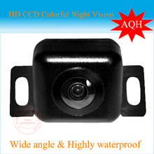CCD car rear camera auto DVD GPS parking aid for front view rear view universal camera free shipping water proof(China)