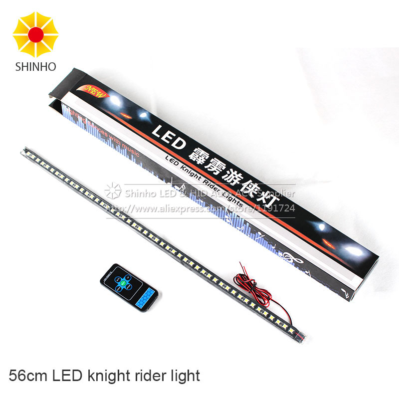 20modes IP68 Waterproof 56CM 48LED bar light 5050 Car LED Knight Rider lights with Infrared remote  LED Strip Scanner Lighting<br><br>Aliexpress