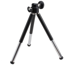 1pcs black Mini Tripod Aluminum Metal Lightweight Tripod Stand Mount For Digital Camera Webcam Phone DV Tripod