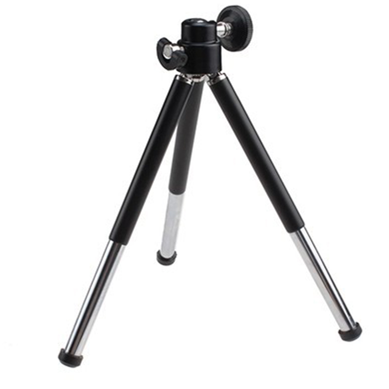 1pcs black Mini Tripod Aluminum Metal Lightweight Tripod Stand Mount For Digital Camera Webcam Phone DV Tripod(China (Mainland))