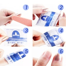 100Pcs/Lot Remover Nail Gel Tools Easy Cleaner Soak off UV Nail Gel Polish Remover Wrapers Led UV Gel Polish Remover Nails Caps