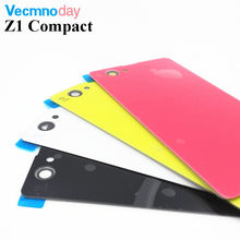 Buy Vecmnoday Back Glass battery Cover Sony Xperia Z1 Compact Mini D5503 M51W Battery Back Door Cover Case housing logo for $5.28 in AliExpress store