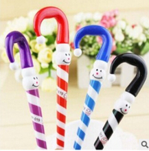 10 pcs Super cute umbrella ballpoint pen The Christmas pen for school and office supplies Gift Pen Free shipping