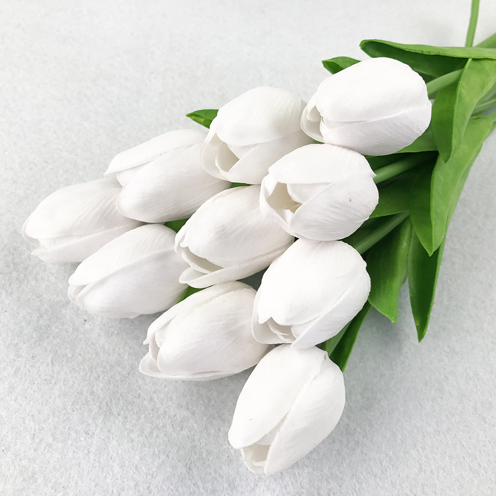 10PcsBag PU Holland Mini Tulip Artificial Flower Real Touch Tulip for Wedding,Home,Hotel,Party Decoration Valentine's Day Gift (14)