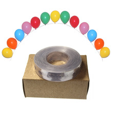 1pcs Plastic balloon chain 5 m transparent PVC rubber wedding balloon fixed essential tools helium balloon decoration(China)