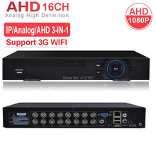 CCTV Security 16CH DVR AHD 1080P 1080N 3-IN-1 Hybrid HVR NVR HDMI 3G WIFI Digital Video Recorder P2P PC Phone Mobile View
