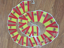 20pcs / lot 5 meters  14 * 21CM UK flag Spanish flag string small flag banners hanging free shipping