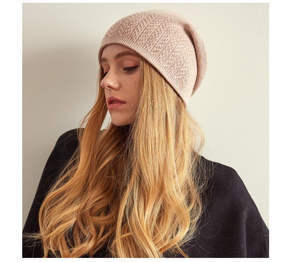 قبعة صوف محبوكة للنساء 15