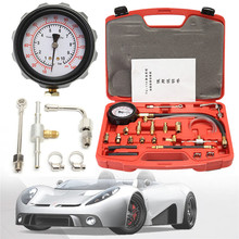 Car Pressure Kit Gauge Tool Fuel Injection Pump Gasoline Tester ManometerMotor Auto Petrol Gas Engine Cylinder Compression(China)