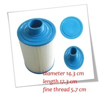 filter for Jazzi pool 2011 version Cartridge filter, hot tub paper filter for chinese spas, 173mmx143mm,57mm MPT thread