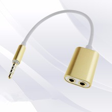 Portable 1 to 2 3.5MM Male To Female Audio Cable Wire Jack Lovers Earphones Wire Jack Sharing For Phones For Computer