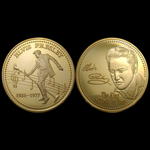 Elvis Presley The king of Rock & Roll Memorial Coin 1935-1977 Super Music Idol 5pcs/lot(China)