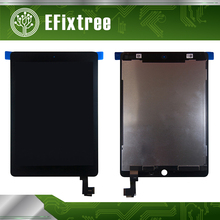 Full New A1567 A1566 LCD Digitizer Assembly For iPad Air 2 LCD Screen Assembly Display Touch Screen Replacement Black White(China)