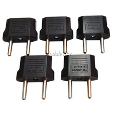 Hot Selling 5pcs High Quality US USA to European Euro EU Travel Charger Adapter Plug Outlet Converter Adapter