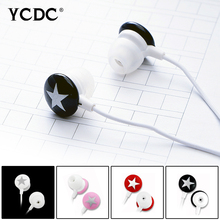 +Free shipping+ YCDC Lovely Star 3.5mm Earphone Earbud For Xiaomi HTC Samsung iPhone MP3 MP4 PC 4 Colors High Quality