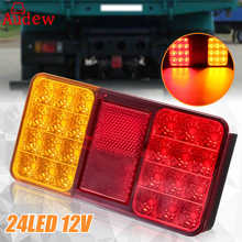 24LED 12V Trailer Truck Rear Lights Brake Stop Tail Turn Indicator LED Lamps For Car Trailers Trucks Utes Boats(China)