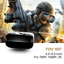 "VR Box 3d Virtual Reality Goggles Supported 780 P/1080 P/2 K Screen Resolution Google Cardboard VR Box for 4.0~6.5"" Smartphones(China)"