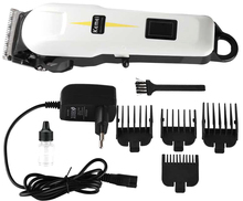 Professional Kemei Titanium Blade Electric Haircut Cutting Machine Barber + limit comb for kids adult men 110-240V(China)