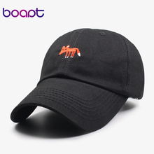 [boapt] pokemon fox animal embroidery dad hat women baseball cap travels female summer brand caps snapback casual cotton men hat