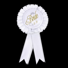 1PCS Bachelorette Party Accessory White Color Bride To Be Rosette Badge Girls Hen Party Decoration Supply