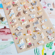 Funny 3D Cat Decorative Stickers Mobile Phone Stickers Stationery DIY Scrapbooking Album Stickers