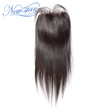 Peruvian Straight 4''X4'' Lace Free Part Closures Guangzhou New Star Virgin Human Hair Medium Brown Swiss Lace With Baby Hair(China)