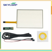 skylarpu 8 Inch 4 Wire Resistive Touch Screen Panel USB Controller for AUO A080SN01 LCD Screen touch panel Glass Free shipping(China)