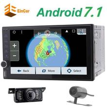 Front&Backup Camera+Android 7.1 nougat Octa-core Car NO-DVD Player 2 Din Car Stereo GPS In Dash Bluetooth WiFi AM FM Radio Audio(China)