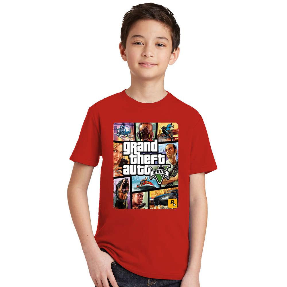 Summer Kids Boys Girls T Shirt 1 gta T-Shirt gta Street Fight Long with gta 5 clothes Children Tees Short Sleeve Kids clothing 9