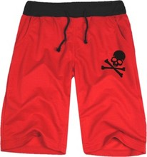 Factory price skull logo printed popular short ONE PIECE Pirates half short hiphop punk casual short