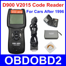 Newest D900 V2015 OBD2 EOBD Car Engine Scanner Diagnostic Fault Code Scan D 900 Diagnostic Scanner  2015 Version Free Ship