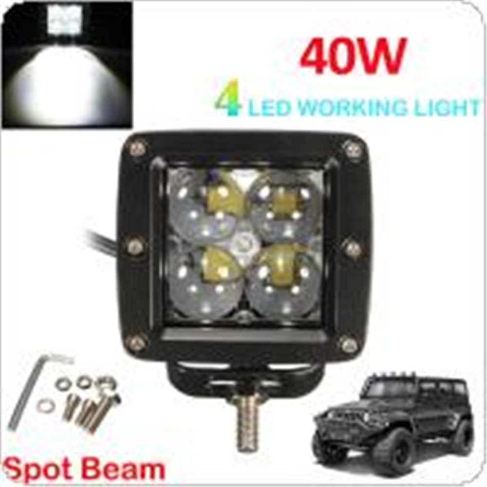 12V 40W 4000LM 6000K 4 LED Work Light Fog Lamp for Motorcycle / Tractor / Boat / 4WD Offroad / SUV / ATV<br><br>Aliexpress