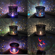 8 Style LED Cosmos Star Master Starry Night Projector SKY Projection Galaxy Night Light Color change Lamp Romantic Lighting