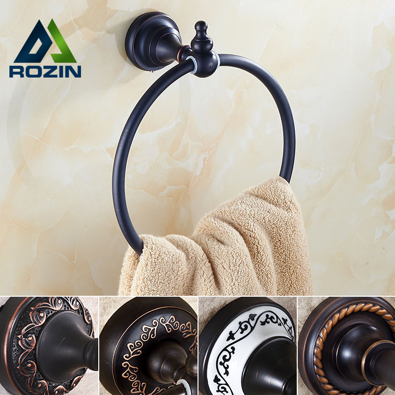 Luxury Solid Brass Bathroom Towel Ring Full Brass Towel Holder Wall Mounted<br>