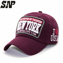 SNP hot cotton embroidery letter New York baseball cap snapback caps fitted bone casquette hat women for men custom hats