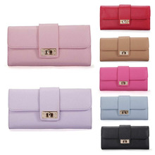 New Arrive 1Pc Women Leather Bifold Wallet Clutch Phone Card Holders Purse Lady Long Handbag