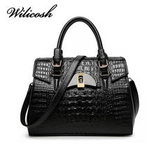 Wilicosh Bag Top-Handle Hanbags 2016 Hot Crocodile Design Women Messenger Bags Female Leather Shoulder Crossbody Bags Tote HC294