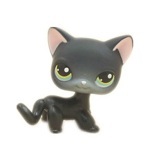 Original 1pc quality cute toys Lovely Pet shop animal Small Black cat action figure littlest doll toys2337(China)