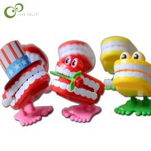 2 pcs Toys wholesale spring Creative Dental Gift Dental Toys wholesale spring Plastic Toys Jump Teeth Chain for Children S33(China)