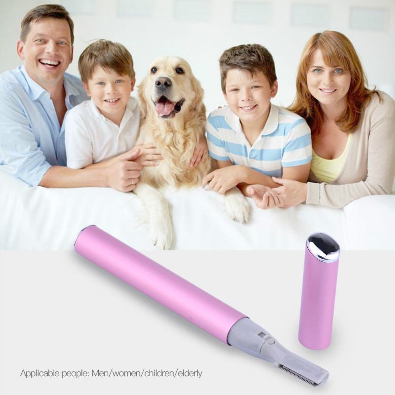 Makeup Hair Removal Eyebrow Trimmer Stainless Steel Knife Shaver Hair Remover+Ball Eye Massager Firming Remover Anti-puffiness