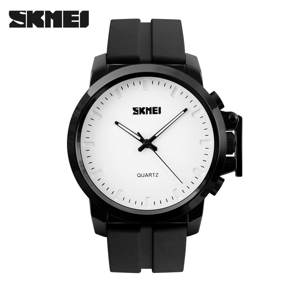 SKMEI 2017 New Brand Fashion Men Sports Watches Mens Quartz Clock Man Leather Strap Military Army Waterproof Wrist watch<br><br>Aliexpress