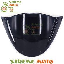 Black Motorcycle Windscreen Windshield For Ducati Monster 696 ABS 796 1100 EVO 1100S 1100ABS Motocross Motorbike Dirt Bike(China)